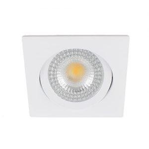 LED spot kantelbaar 5Watt vierkant WIT IP65 dimbaar – interne driver2