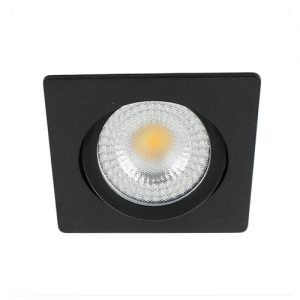 LED spot kantelbaar 5Watt vierkant ZWART IP65 dimbaar – interne driver2