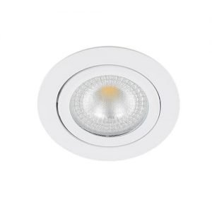 LED spot kantelbaar 5Watt rond WIT IP65 dimbaar – interne driver