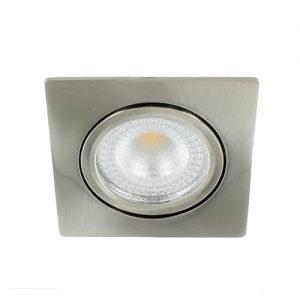 LED spot kantelbaar 5Watt vierkant NIKKEL IP65 dimbaar – interne driver
