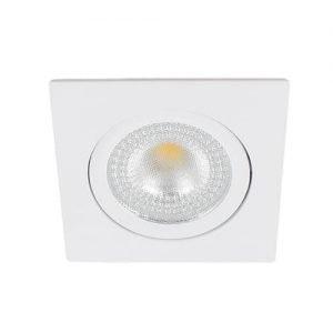 LED spot kantelbaar 5Watt vierkant WIT IP65 dimbaar – interne driver