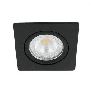 LED spot kantelbaar 5Watt vierkant ZWART IP65 dimbaar – interne driver
