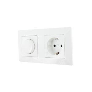 Oslo LED dimmer en stopcontact combinatie compleet