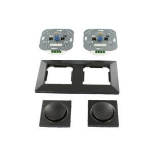 Nero dubbele LED dimmer combinatie compleet 3