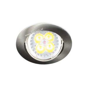 LED spot kantelbaar GU10 4Watt rond dimbaar