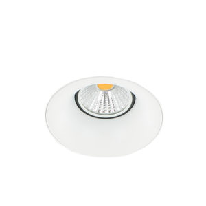 LED trimless spot GU10 COB 5Watt rond WIT dimbaar