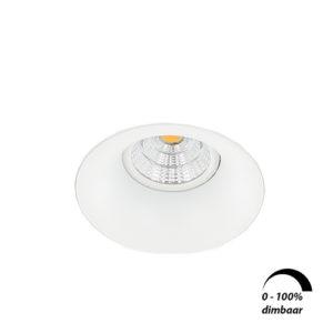 LED trimless spot GU10 COB 6Watt rond WIT dimbaar