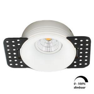 LED trimless spot GU10 COB 6Watt rond WIT dimbaar2