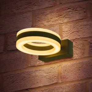 Wandlamp LED 11Watt GRIJS 220Volt IP54
