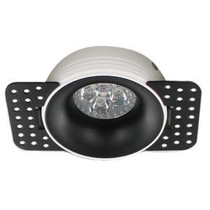 LED trimless spot GU10 4Watt rond ZWART dimbaar2
