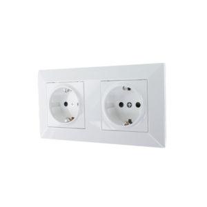 Oslo dubbele stopcontact combinatie compleet