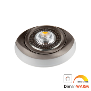 LED trimless spot kantelbaar 7Watt rond NIKKEL IP65 dimbaar – interne driver 1