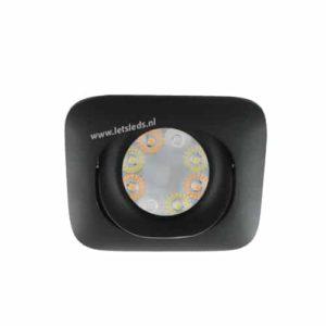 Wifi LED RGBW spot ZWART kantelbaar GU10 4Watt vierkant dimbaar