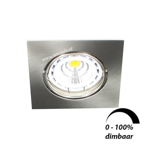 LED spot kantelbaar GU10 6Watt vierkant dimbaar