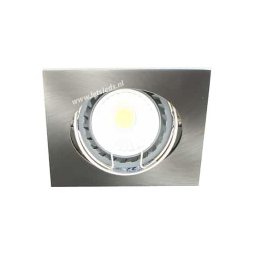 LED spot kantelbaar GU10 COB 5Watt vierkant dimbaar
