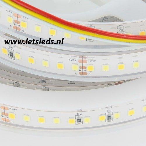 LED strip warm wit - koel wit IP68 dimbaar 5 meter compleet systeem