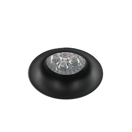 LED trimless spot GU10 4Watt rond ZWART dimbaar