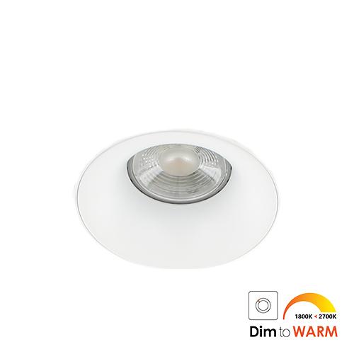 LED trimless spot GU10 COB 7Watt rond WIT dimbaar