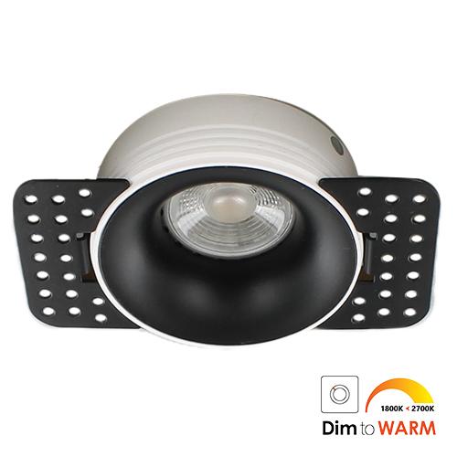 LED trimless spot GU10 COB 7Watt rond ZWART dimbaar2