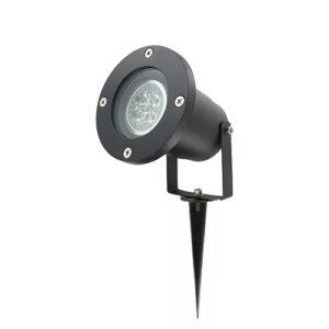 LED tuinspot 1x4 Watt ZWART 220Volt IP65 dimbaar