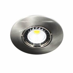 LED spot kantelbaar GU10 COB 5Watt rond NIKKEL dimbaar