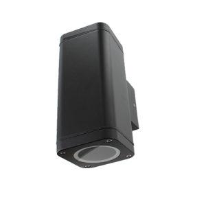Smart wandlamp LED 2x4Watt ZWART 220Volt IP65 dimbaar