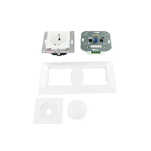Oslo LED dimmer en stopcontact combinatie compleet set