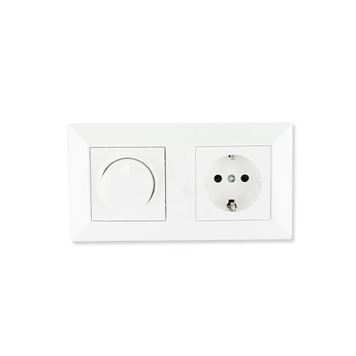 Oslo LED dimmer en stopcontact combinatie compleet vooraf