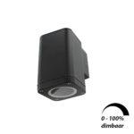 Wandlamp LED armatuur GU10 fitting IP65 waterdicht vierkant 1x 6Watt