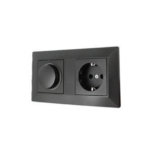Nero LED dimmer en stopcontact combinatie compleet