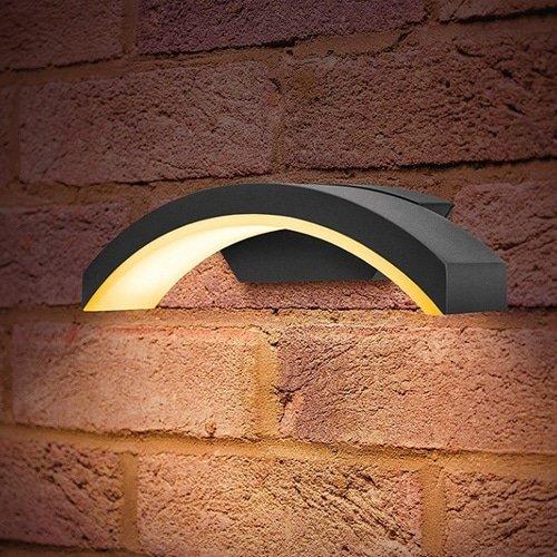 Wandlamp LED 7,5Watt GRIJS 220Volt IP54