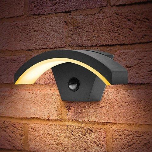 Wandlamp LED 7,5Watt GRIJS 220Volt IP54 PIR