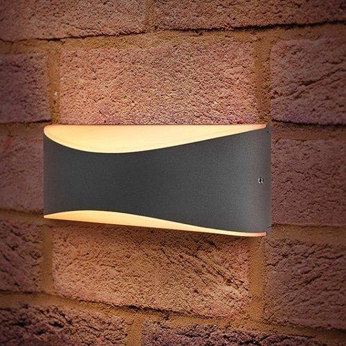 Wandlamp LED 7Watt GRIJS 220Volt IP54