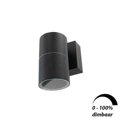 Wandlamp LED armatuur GU10 fitting IP65 waterdicht rond 1x 6Watt
