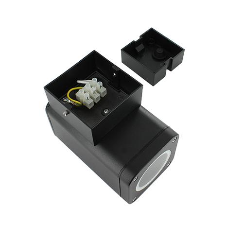 Wandlamp LED armatuur GU10 fitting IP65 waterdicht vierkant 1x achterkant