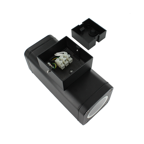 Wandlamp LED armatuur GU10 fitting IP65 waterdicht vierkant 2x achterkant