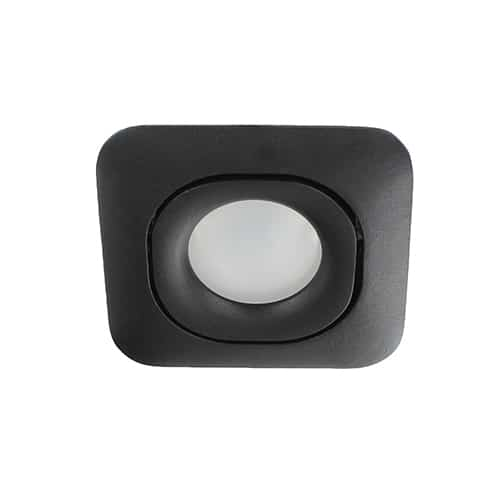 Wifi LED RGBW-CCT spot ZWART kantelbaar GU10 5,5Watt vierkant dimbaar