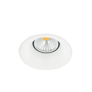 LED trimless spot GU10 COB 3Watt rond WIT dimbaar