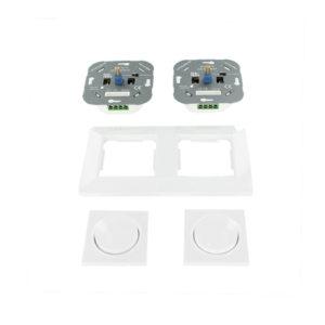 Oslo dubbele LED dimmer combinatie compleet 3