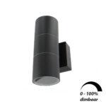 Wandlamp LED armatuur GU10 fitting IP65 waterdicht rond 2x 6Watt