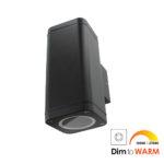 Wandlamp LED armatuur GU10 fitting IP65 waterdicht vierkant 2x 7Watt