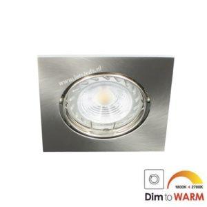 LED spot kantelbaar GU10 7Watt vierkant dimbaar