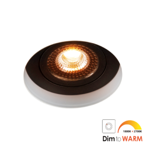 LED trimless spot kantelbaar 7Watt rond ZWART IP65 dimbaar – interne driver 2