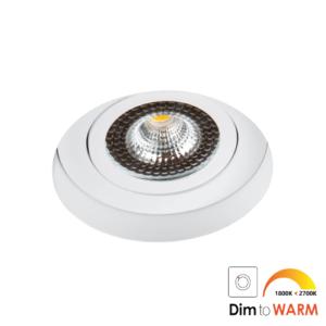 LED trimless spot kantelbaar 7Watt rond WIT IP65 dimbaar – interne driver 1