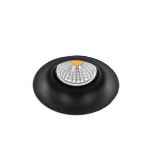 LED trimless spot GU10 COB 5Watt rond ZWART dimbaar