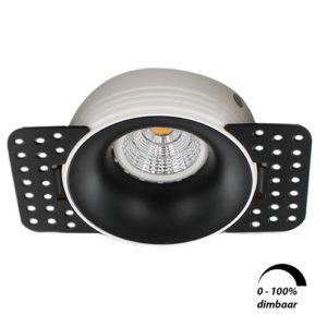 LED trimless spot GU10 COB 6Watt rond ZWART dimbaar2