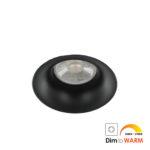 LED trimless spot GU10 COB 7Watt rond ZWART dimbaar