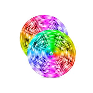 LED strip RGB, warm wit, koel wit IP54 dimbaar 2x5Mtr 1