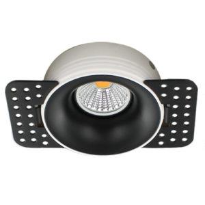 LED trimless spot GU10 COB 3Watt rond ZWART dimbaar2