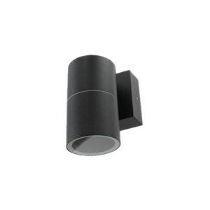 Smart wandlamp LED 1x4Watt ZWART 220Volt IP65 dimbaar